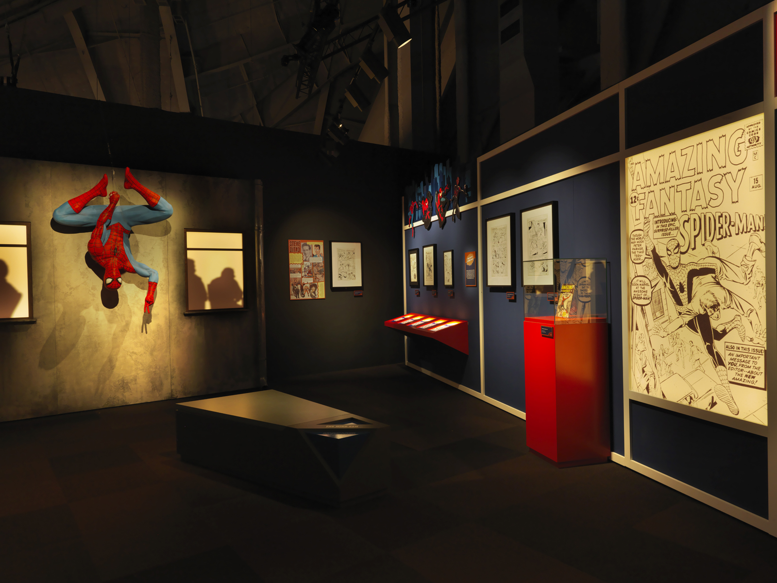 Spider-Man section of the Marvel exhibit